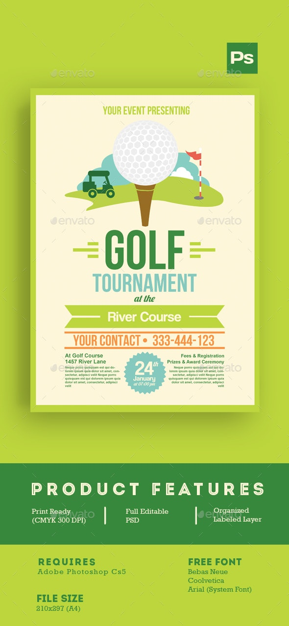 Golf Tournament Flyer Tamplate - Sports Events