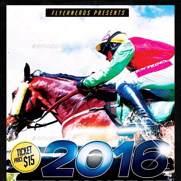 Derby Horse Championships Sports Flyer
