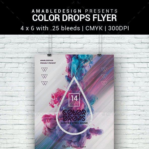 Color Drops Flyer