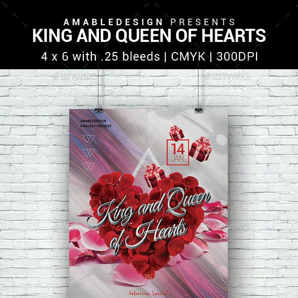 King and Queen of Hearts Flyer