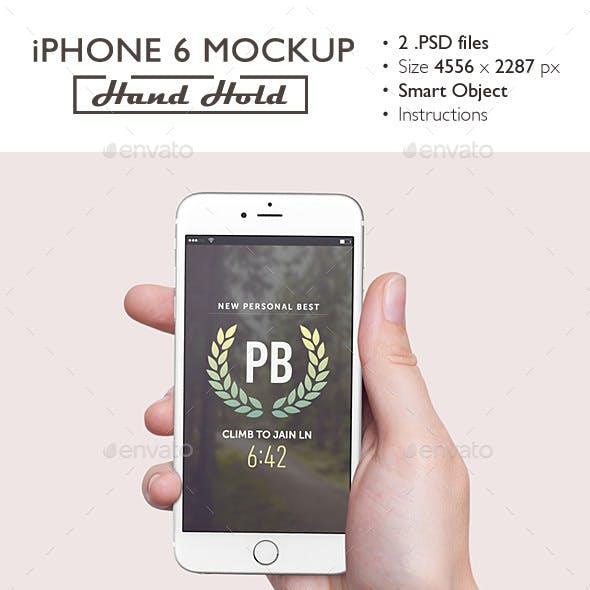 iPhone 6 Mockup Hand Hold