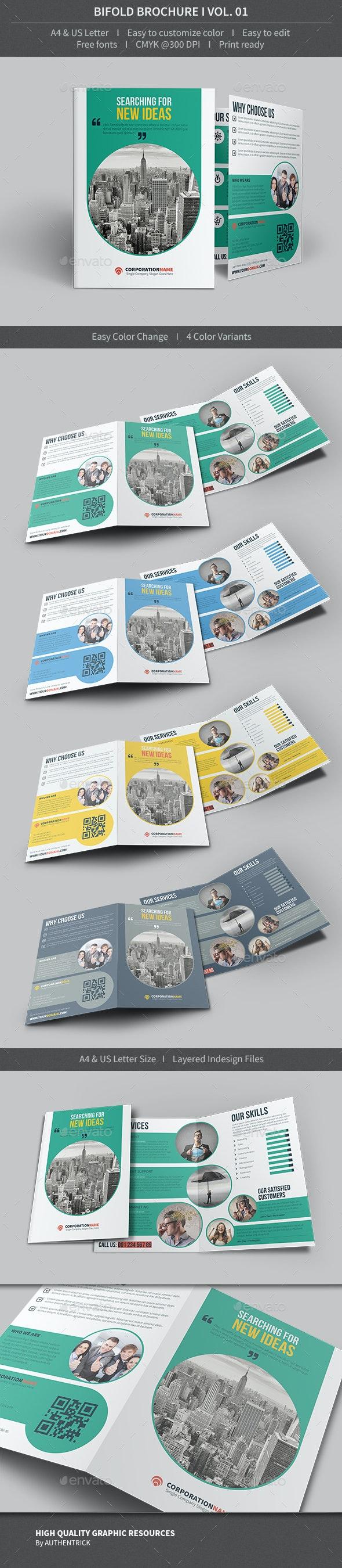 Bifold Brochure - Volume 01 - Corporate Brochures