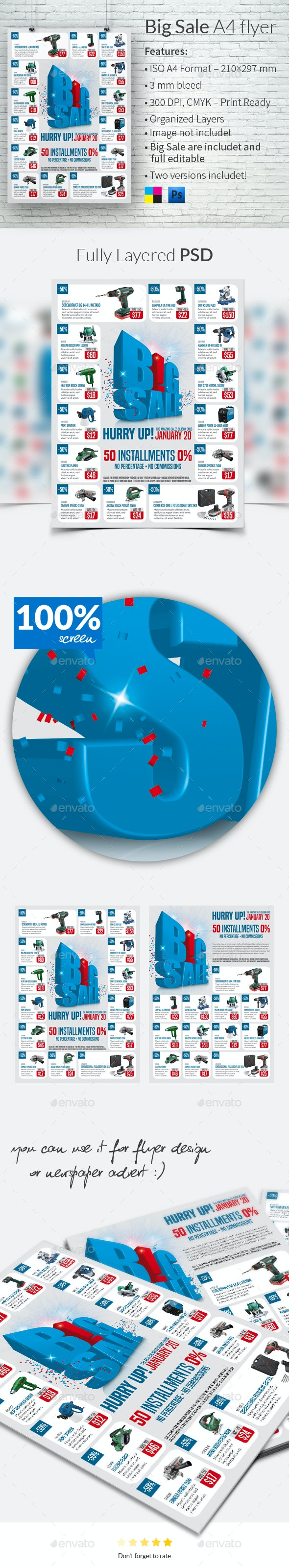 Big Sale A4 Flyer Template - Flyers Print Templates