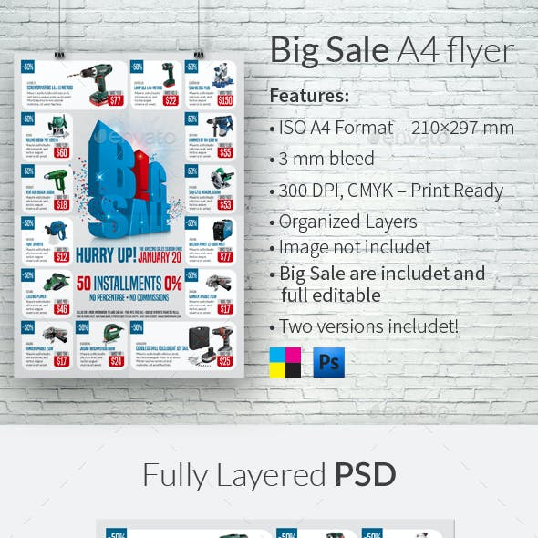Big Sale A4 Flyer Template