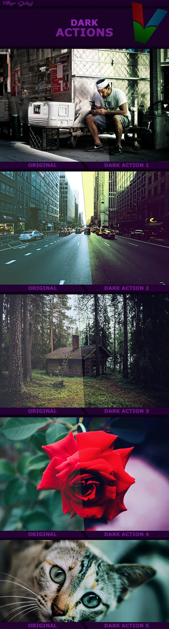 Dark Action I - Photo Effects Actions