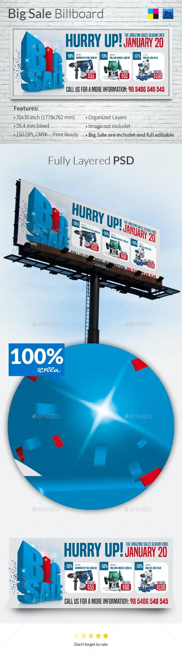 Big Sale Billboard Template - Signage Print Templates