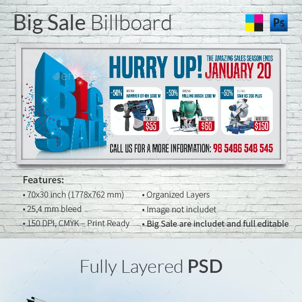Big Sale Billboard Template