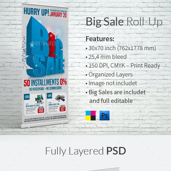 Big Sale Roll-up Template