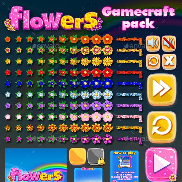 Flowers Game Assets
