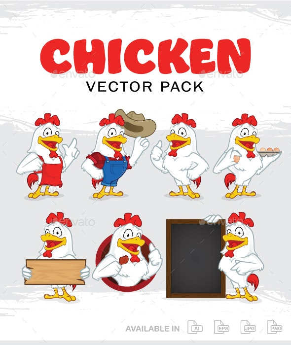 Chicken Mascot Character - Animals Characters