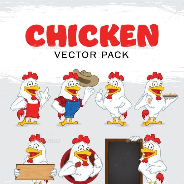 Chicken Mascot Character