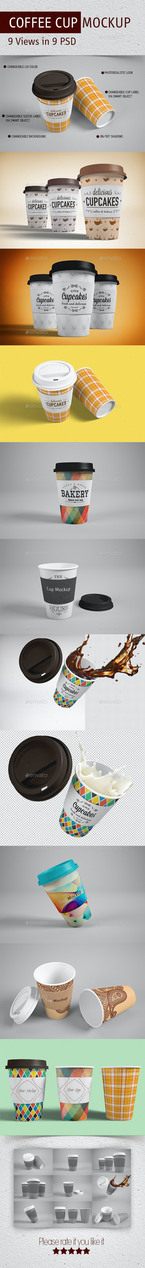 Coffee Cup Mockup - Graphics