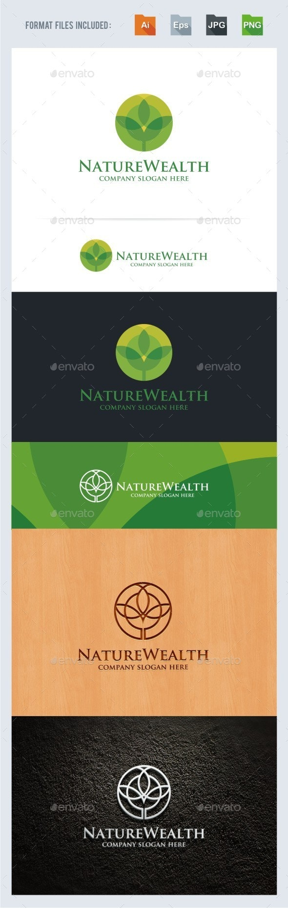 Nature Wealth Logo Template