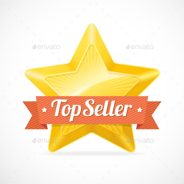 Top Seller Star Label