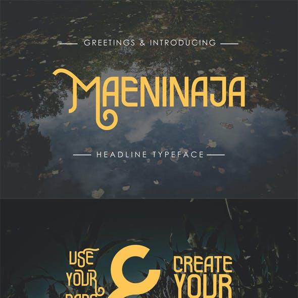 Maeninaja Typeface