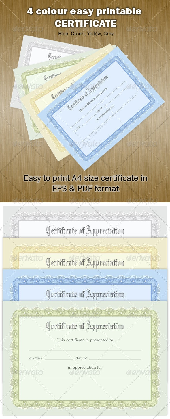 Certificate of Achievement - Certificates Stationery