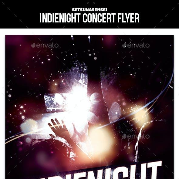 Indienight Concert Flyer