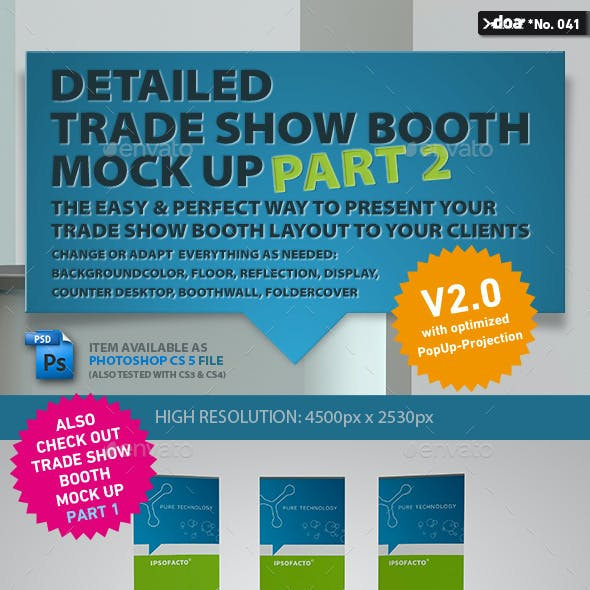 Trade Show Booth Mock Up PART 2