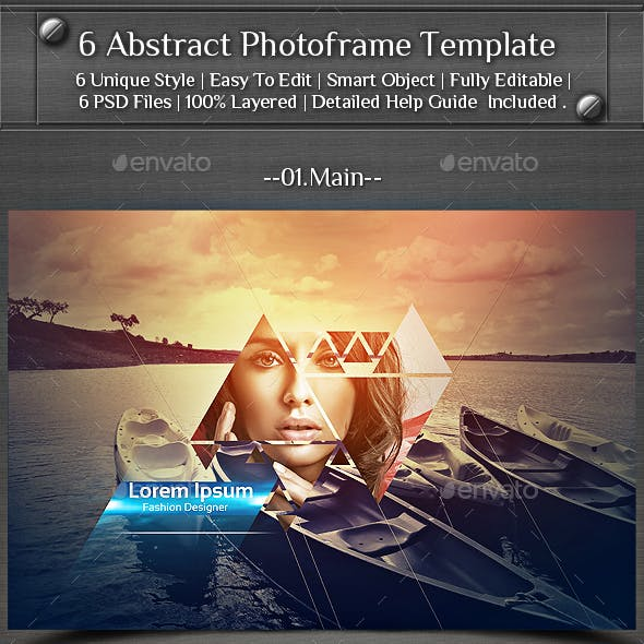6 Abstract Photoframe Template