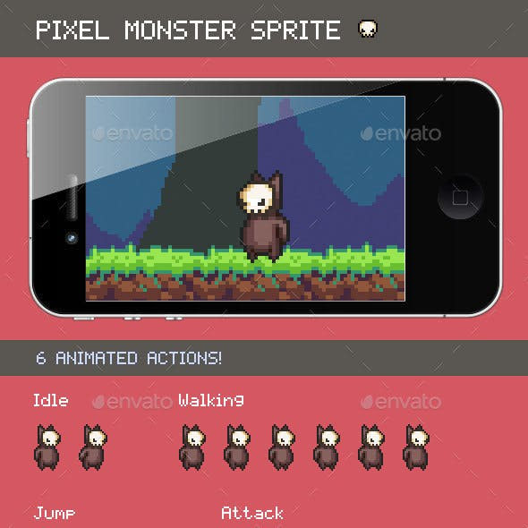 Pixel Monster Sprite