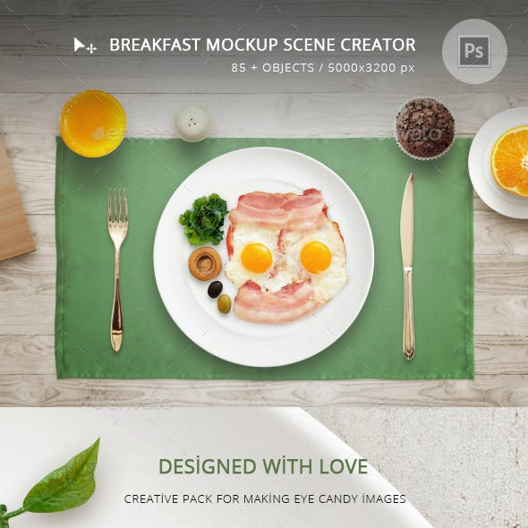 Breakfast Mockup Scene Creator