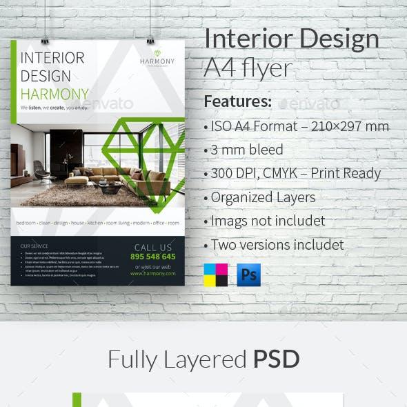 Interior Design A4 Flyer Templates
