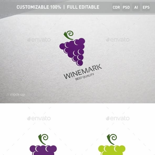 Grape Logo Template