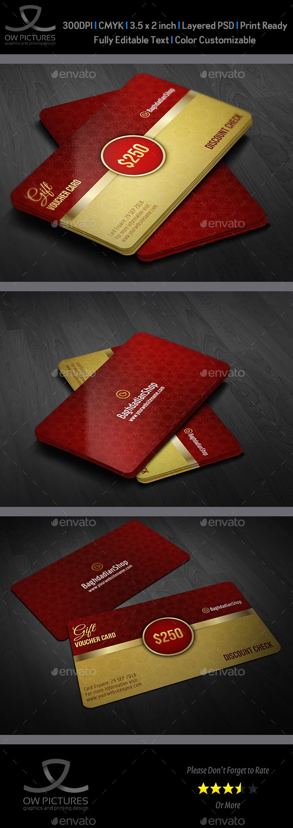 Gift Voucher Card Template Vol 21 - Cards & Invites Print Templates