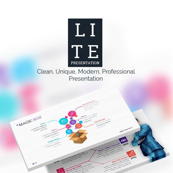 LITE Keynote - Presentation Template
