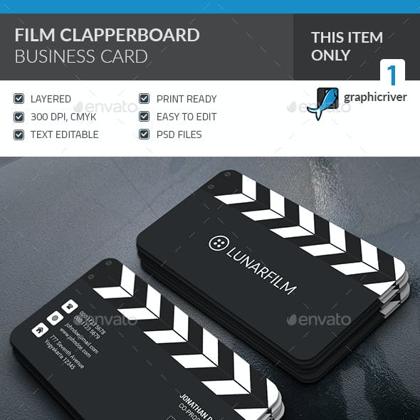 Film Clipperboard Business Card