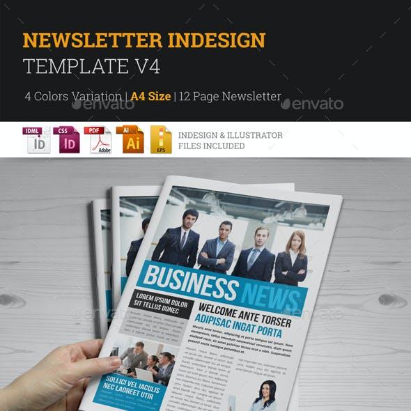 Newsletter Indesign Template v4