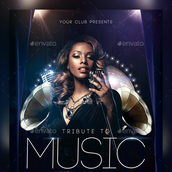 Lounge Music Flyer Template