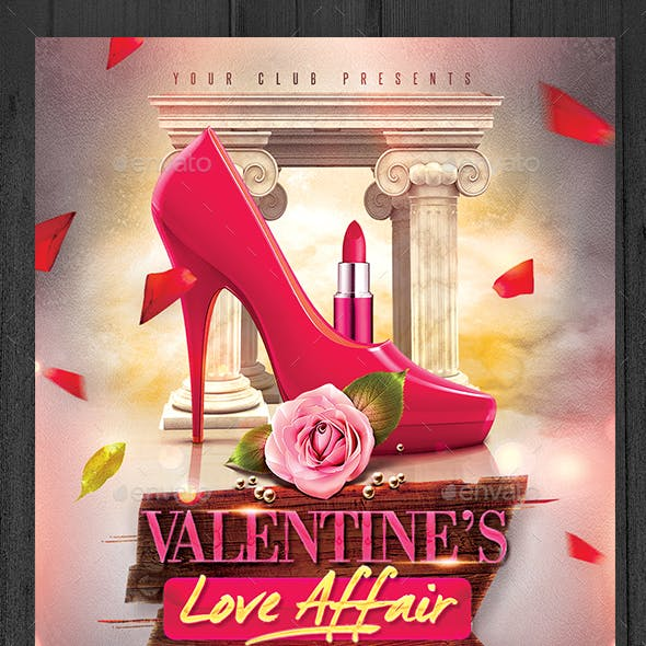 Valentine's Love Affair Flyer