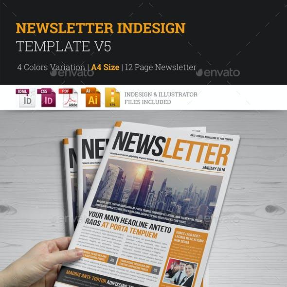Newsletter Indesign Template v5