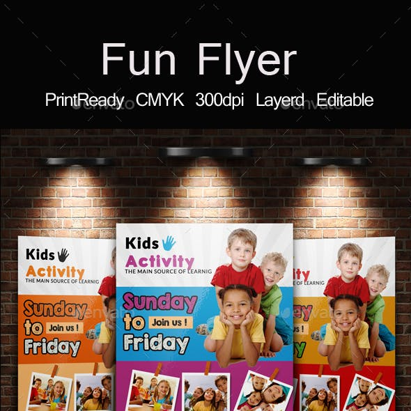 Kids Playgroup Education Flyer