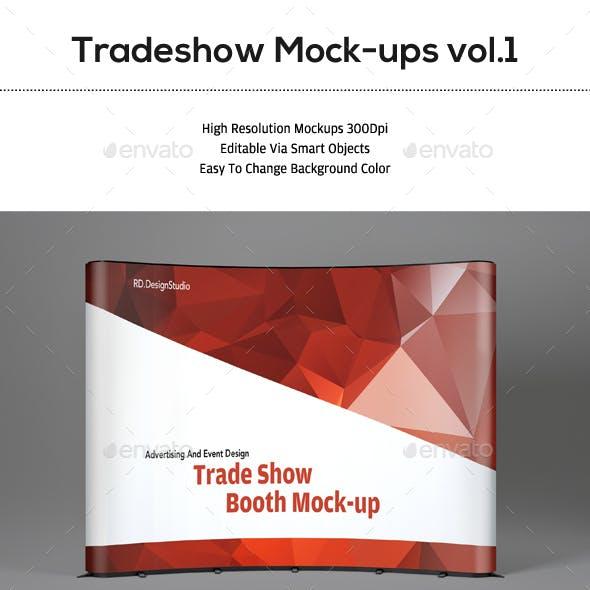 Tradeshow Display Booth Mockup