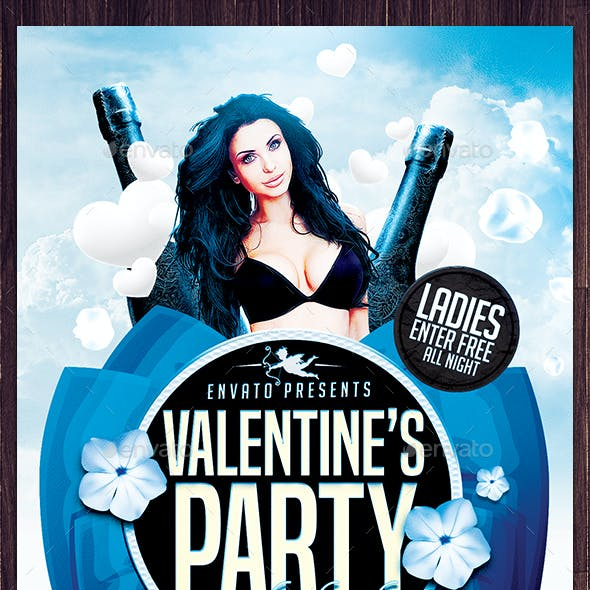 Valentines Party on the Heights Flyer