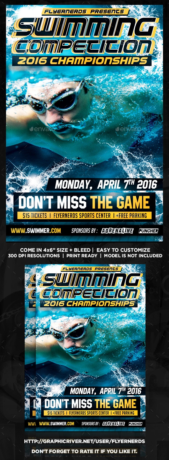 Swimming Championships Sports Flyer - Sports Events
