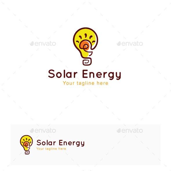 Solar Energy - Power Ideas Objective Stock Logo Template