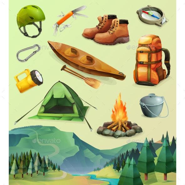 Camp Icons - Vectors