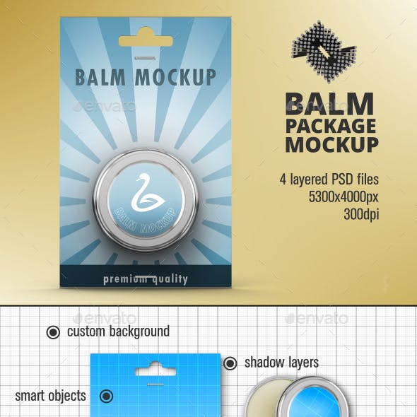 Lip Balm Packaging Mockup