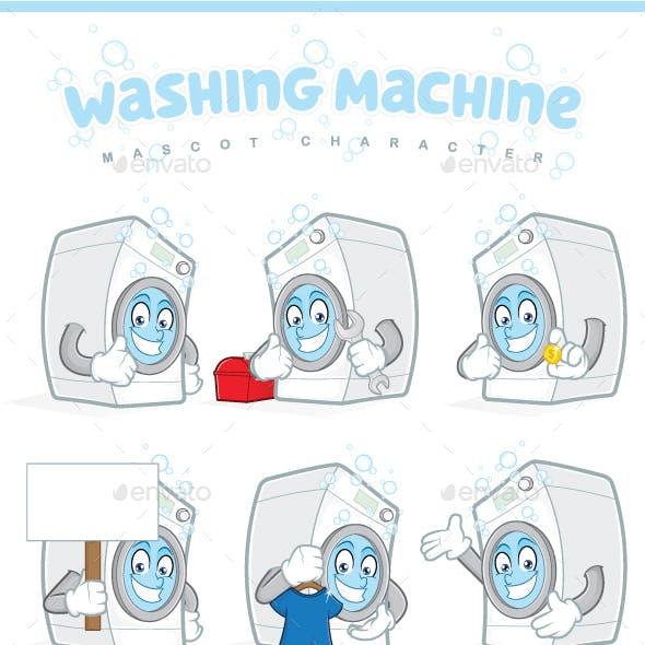 Washing Machine Mascot Character