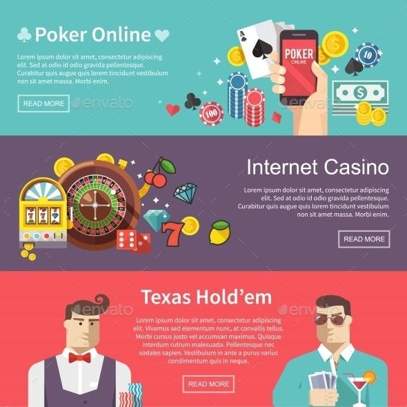Poker Vector Web Banner - Web Technology