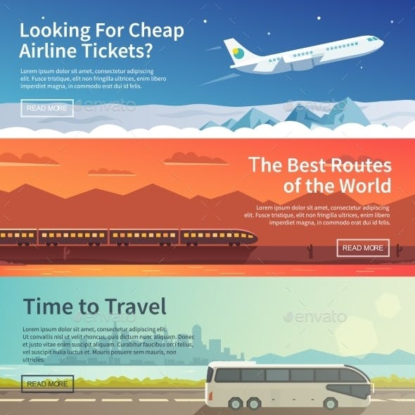 Transportation Vector Web Banner