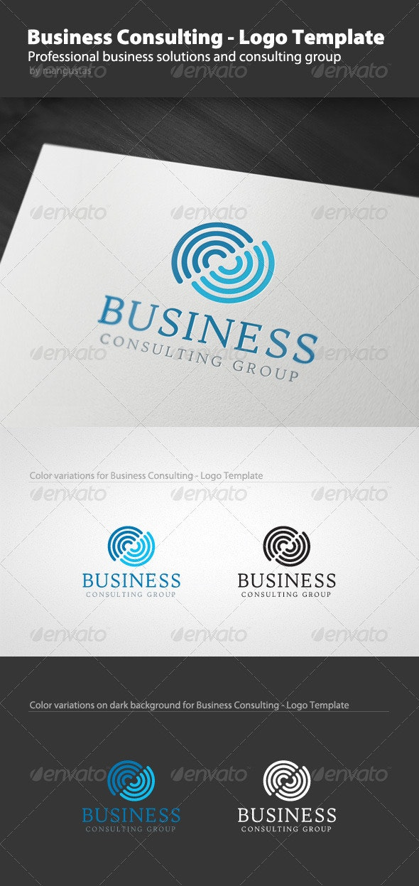 Business Consulting - Logo Template - Vector Abstract