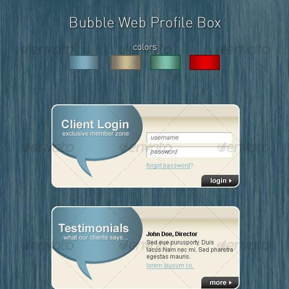 Bubble Web Profile Box Concept