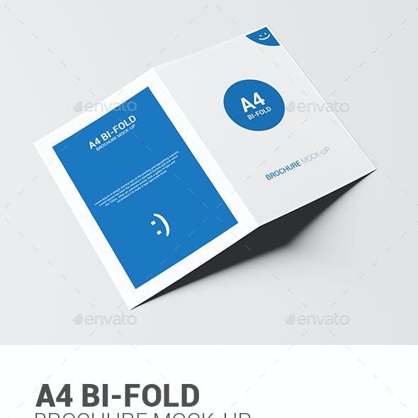 A4 Bi-fold Brochure Mock-Up