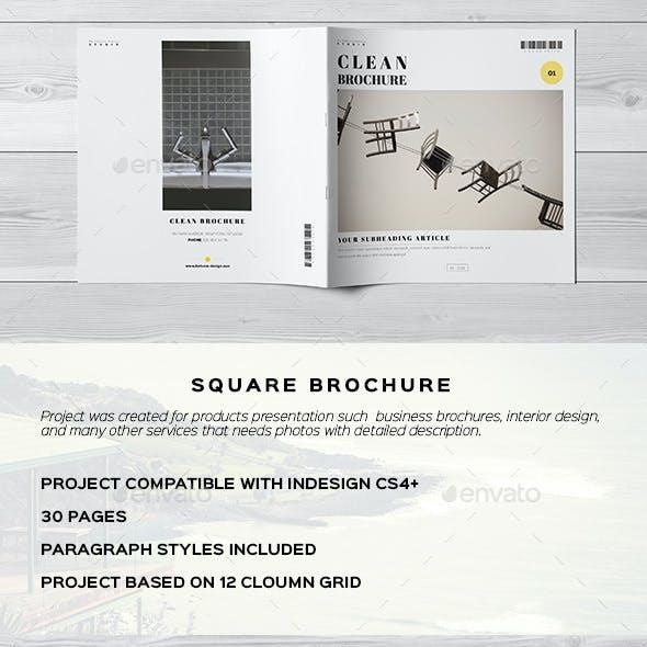 Clean Minimal Elegant Brochure