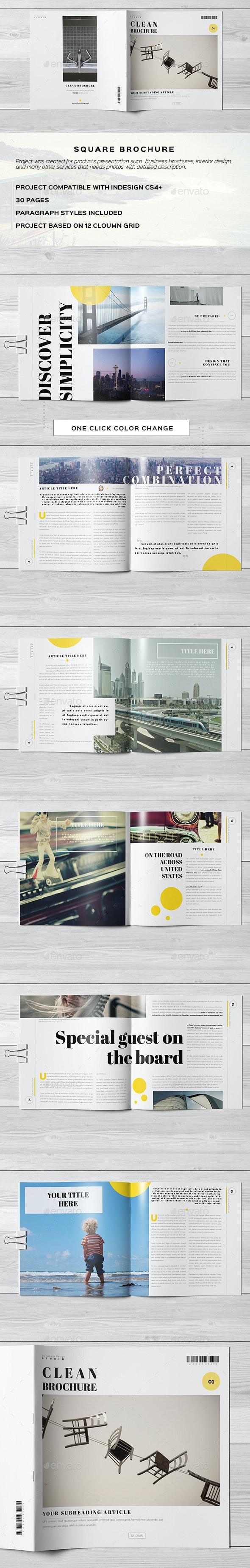 Clean Minimal Elegant Brochure - Catalogs Brochures