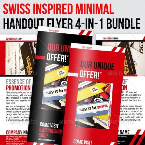 Swiss Minimal Style Professional Flyer 4in1 Bundle